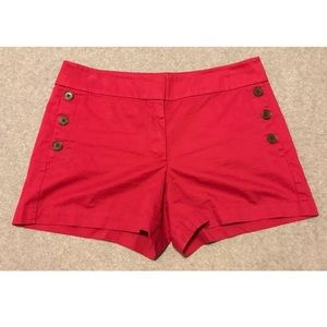 Loft outlet raspberry colored shorts. Size 8.